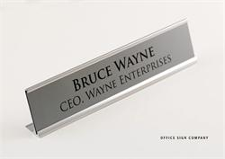 Desk Signs with Metal Frame