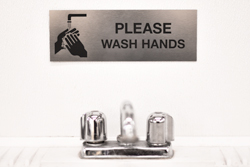 Please Wash Hands Bathroom Sign