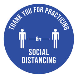 6 Feet Social Distancing Decal