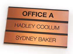 Changeable Insert Wall Signs