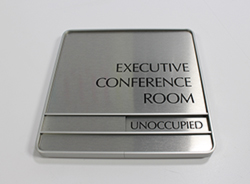 Satin Silver frame conference room