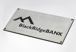 Stainless Steel Sign with Engraved Text and Design