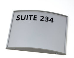 Braille Signs for Suites
