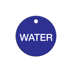 Blue Circle Acrylic Valve Tag