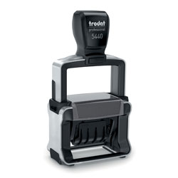 Trodat 5440 Self Inking dater Stamp with Custom Text Area