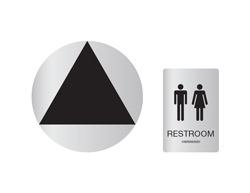 Unisex Restroom Wall and Door Sign