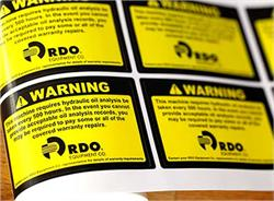 Safety and Warning Labels Custom Printed