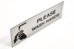 Acrylic Hand Washing Restroom Signs