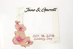 Custom Selfie Frame for Wedding