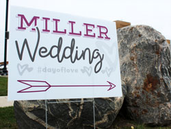 Wedding Sign for Yard