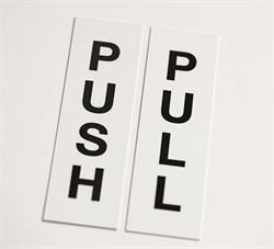Push Pull Door Signs for Hotel and more