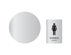 Women's Restroom Wall and Door Sign