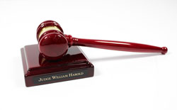 Custom Gavel Wooden Trophy