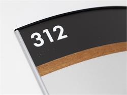 Wood Room Number Signs with Braille