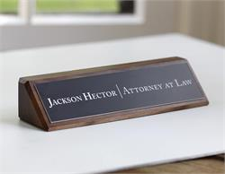 Wooden Sign for Judges and City Officials