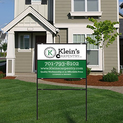 Metal Yard Signs with Custom Metal Inserts