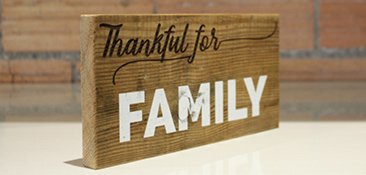 Reclaimed Wood Thankful Plaques